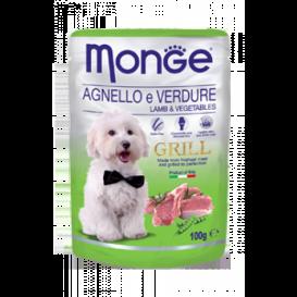 MONGE GRILL DOG lammas & köögiv.100g