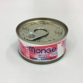 MONGE Jelly CatTuunikala tk.krevett 80g