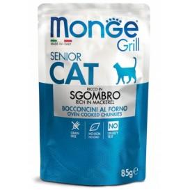 MONGE GRILL SENIOR CAT macrel 85g bag