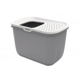 Savic Cat Litter Tray HOP IN white/blue