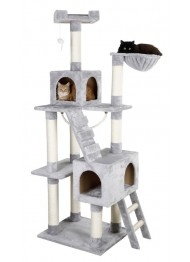 Kerbl cat tree grey 59x50x178cm