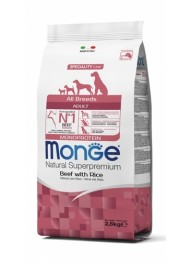 MONGE DOG AB beef & rice dog food 2,5kg