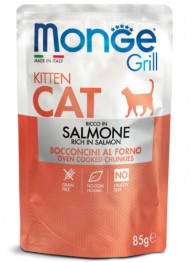 MONGE GRILL kitten salmon 85g bag