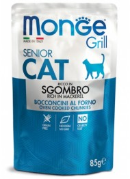 MONGE GRILL SENIOR CAT macrel 85g bag