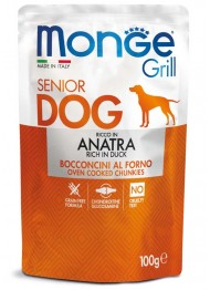 MONGE GRILL DOG SENIOR duck 100g