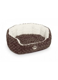 Nobby Comfort Bed NEIKU Oval brown/white 55x50x21cm