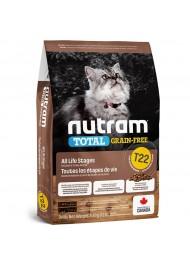 Nutram T22 Total Grain Free Chicken & Turkey Cat Food 1,8 kg
