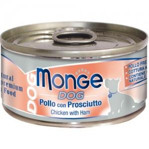 Monge Dog Natural Chicken & Ham 95g