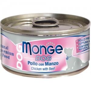 Monge Dog Natural Chicken & Beef 95 g