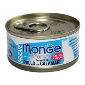 Monge Cat Delicate Chicken & Squid 80 g
