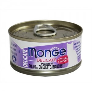 Monge Cat Delicate Chicken & Omlet & White Baits 80g