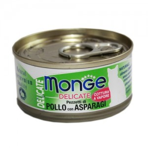 Monge Cat Delicate Chicken & Asparagus 80g