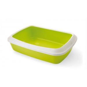 Savic Cat Litter Tray IRIZ 50 cm white/green