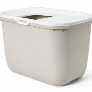 Savic Cat Litter Tray HOP IN white/brown