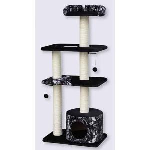 """Nobby Cat Tree """"CANILLO"""" black 56x38x130cm"""