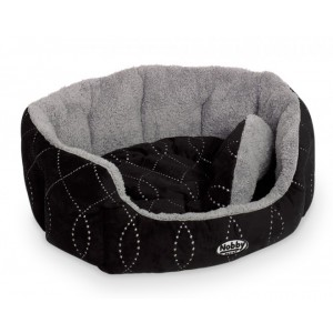 Nobby Comfort Bed Oval CENO black/grey 86x70x24cm