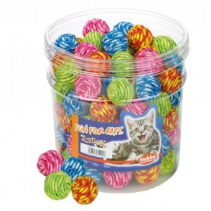 Nobby Cat Toy Wrapped Ball 3,5cm