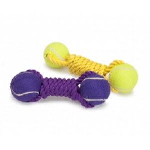 Camon Cotton Rope with tennis ball 22cm
