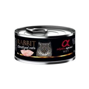AlphaSpirit CAT food with rabbit 85g