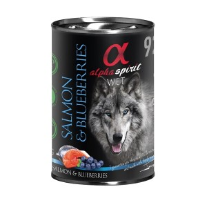 AlphaSpirit DOG salmon & BLUEBERRY 400g
