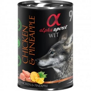 AlphaSpirit DOG CHICKEN & PINEAPPLE 400g