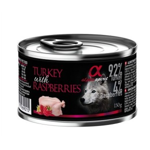 AlphaSpirit DOG TURKEY & RASPBERRY 150g