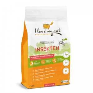 Bellfor ILOVE MY CAT food insect 1,2kg