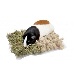 Bunny action mat hay&hemp 17x29cm