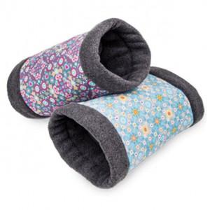 Bunny FLEECY bed for rabbit blue