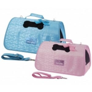 Camon Pet Carrier pink/blue 42x25x24