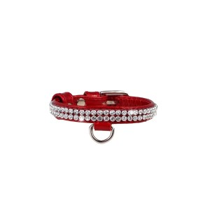 CO collar BR 15mm x 21-27cm red
