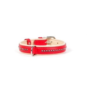 CO collar CRY 15mmx21-27cm red