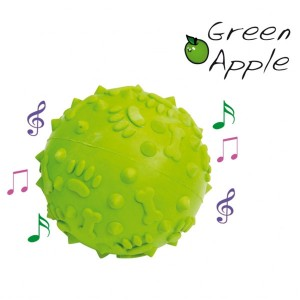 Camon Rubber Ball Green Apple 8 cm