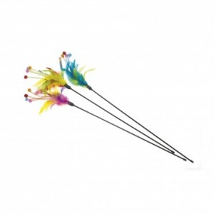 Imac cat toy CANE WITH FEATHERS 50cm
