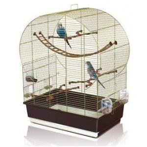 Imac bird cage ANDORRA white/grey