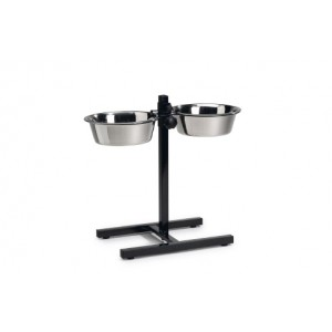 IPTS H-stand + 2 Stainless Steel Bowls 20cm