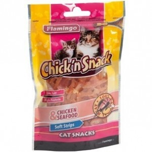 Karlie Chicken Soft Strips 85g