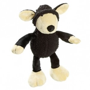 Fla.toy for dogs black SHEEP 25 cm