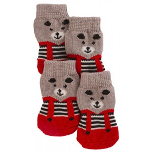 Kerbl Dog Socks Bruno L grey/red