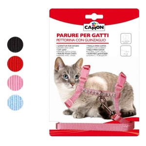 Camon Nylon Harness + Leash with Rhinestones