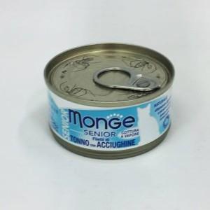 MONGE Jelly SENIORcat Tuunfil+k.maim 80g