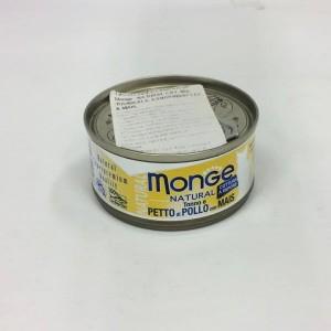 MONGE Nat. Cat Kanarind/mais 80g
