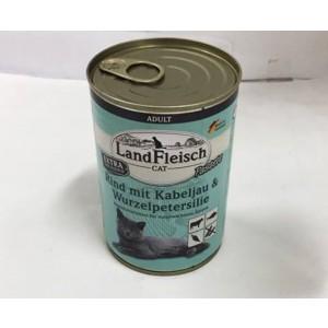 Landfleisch Cat beef + cod 400g