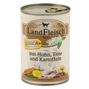 Landfleisch Junior Chicken, Duck & organic vegetables 400g