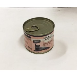 Landfleisch Cat beef + turkey 195g