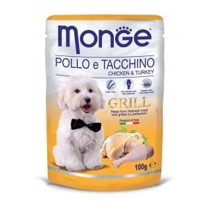 MONGE GRILL DOG kana & kalkun 100g