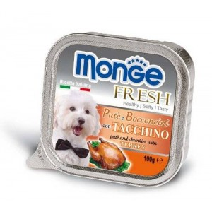 Monge Dog Fresh Turkey 100g