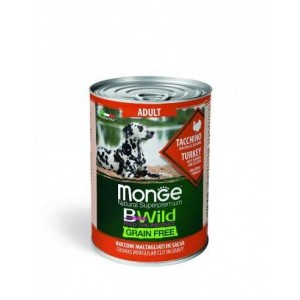 MONGE BWILD ADULT GF turkey 400g
