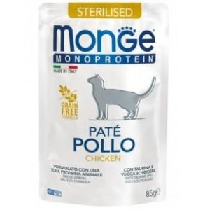 MONGE MONOPR.CAT STER. chicken 85g