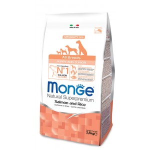 Monge Dog All Breeds Puppy Salmon & Rice 0,8kg
